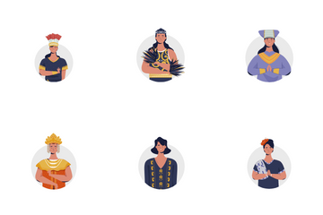 Traditional Women's Clothing In Indonesia Icon Pack