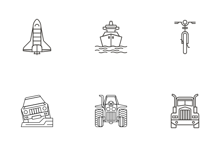 Traffic And Transportation Icon Pack