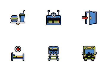Train Station Icon Pack