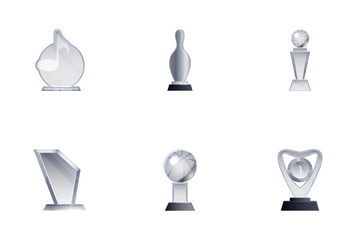 Transparent Trophies Icon Pack