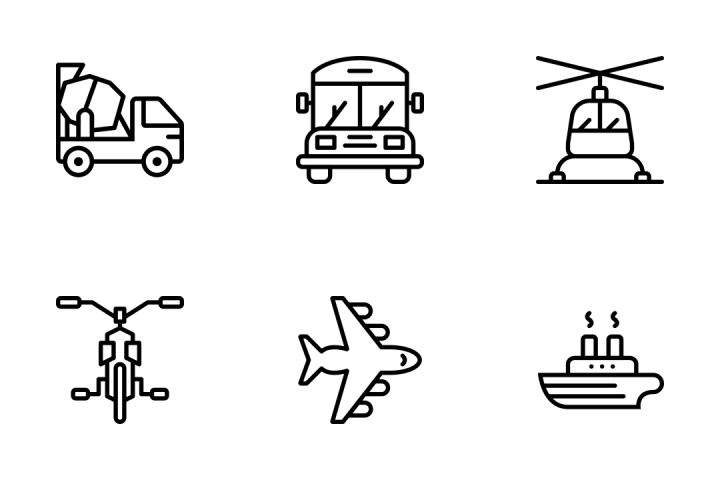 Premium Transport Outline Icon Pack Download In SVG, PNG