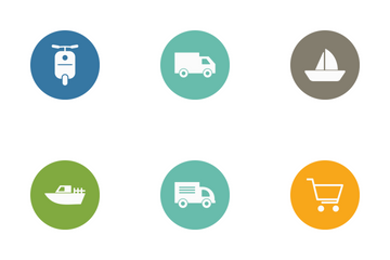 Transport Circle Icon Pack