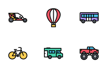 Transport Colore Icon Pack