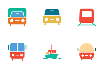 Transport Colored Icons Icon Pack