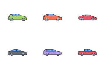 Transport Filled Outline Icon Pack