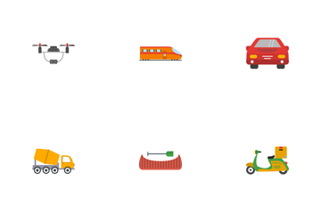 Transport Flat Icon Pack