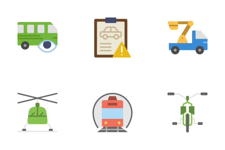 Transport - Flat Icon Pack