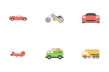 Transport Flat Icons 3 Icon Pack