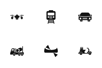 Transport Glyph Icon Pack