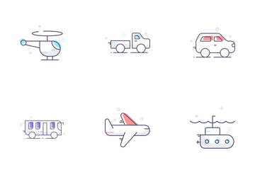 Transport Line Icon Pack