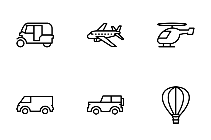 Download Premium Transport Outline Icon Pack From