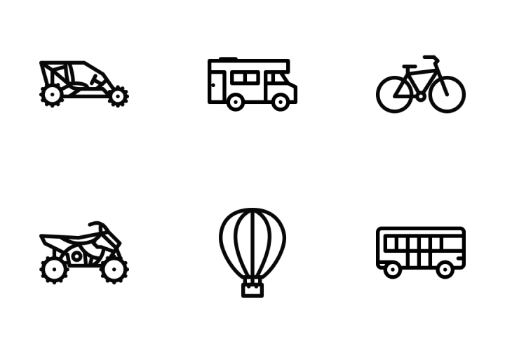 Download Transport Outline Icon Pack