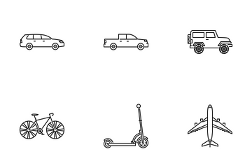 Transport Outline Icon Pack