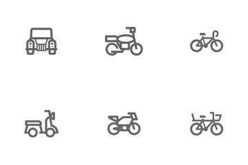 Transport & Vehicle Icon Pack