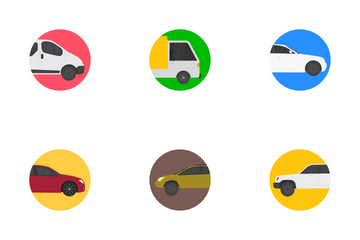 Transport Vehicles Flat Icons Icon Pack