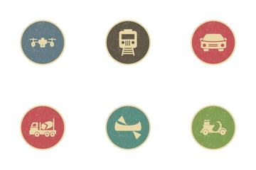 Transport Vintage Icon Pack