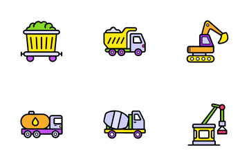 Transportation And Auto Service Icon Pack