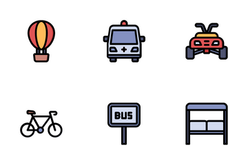 Transportation And Vehicles Icon Pack