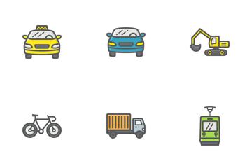 Transportation Filled Outline Icon Pack