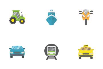 Transportation Flat Icons Icon Pack
