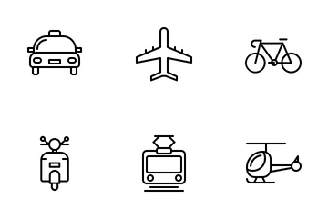 Transportation (line) Vol.1 Icon Pack