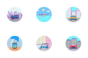 Transportation Smooth Icon Pack
