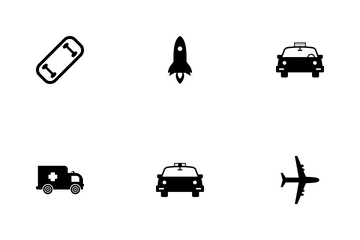 Transportation Solid Icon Pack