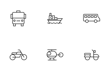 Transportation Thinline Icon Pack