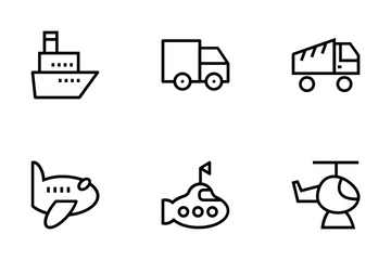 Transportation Vector Icons Icon Pack