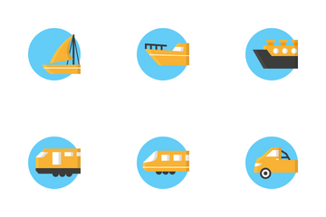Transportation Vehicle Icon Pack