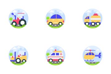 Transportation Vehicle Icon Pack