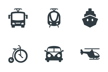 Transportation & Vehicles Icon Pack