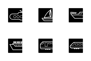 Transportation Vehicles Icon Pack