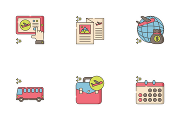 Travel Agency Icon Pack