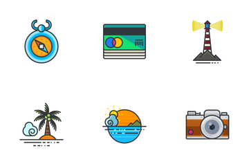 Travel And Holidays  Icon Pack