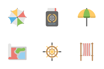Travel And Holidays Flat Icons 1 Icon Pack