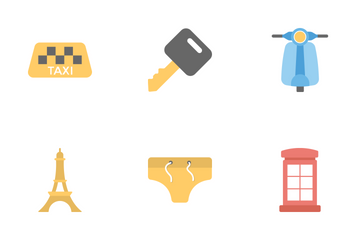 Travel And Holidays Flat Icons 2 Icon Pack