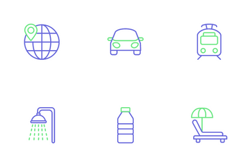 Travel And Hotel Icon Pack
