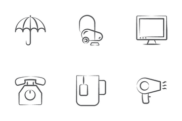 Travel And Hotels Icon Pack