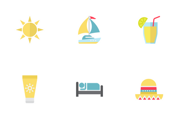 Travel And Tourism Flat Icons Icon Pack