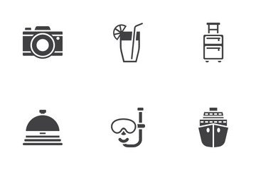 Travel And Tourism Glyph Icons Icon Pack