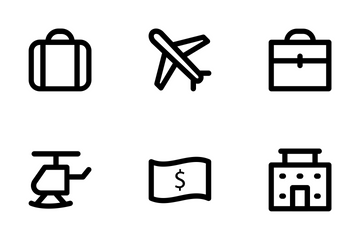 Travel Bold Icon Pack