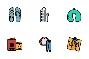 Travel Checklist Icon Pack