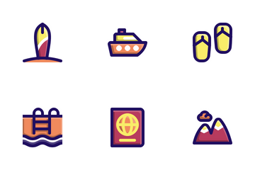 Travel (Filled Line) Icon Pack