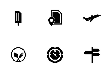 Travel Glyph Icon Pack