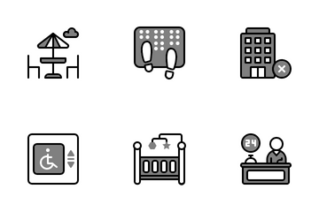 Travel & Hotel Icon Pack