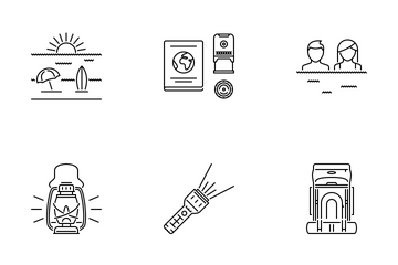 Travel Outline Icon Pack