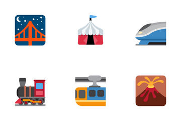 Travel & Places Twemoji Icon Pack