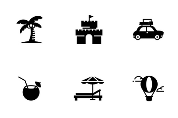 Travel, Summer Icon Pack