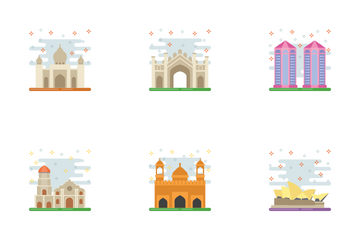 Travel To Asia Icon Pack